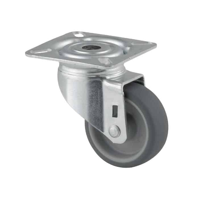 50mm Rubber Zinc Plated Castors from $5 | The Castor Master