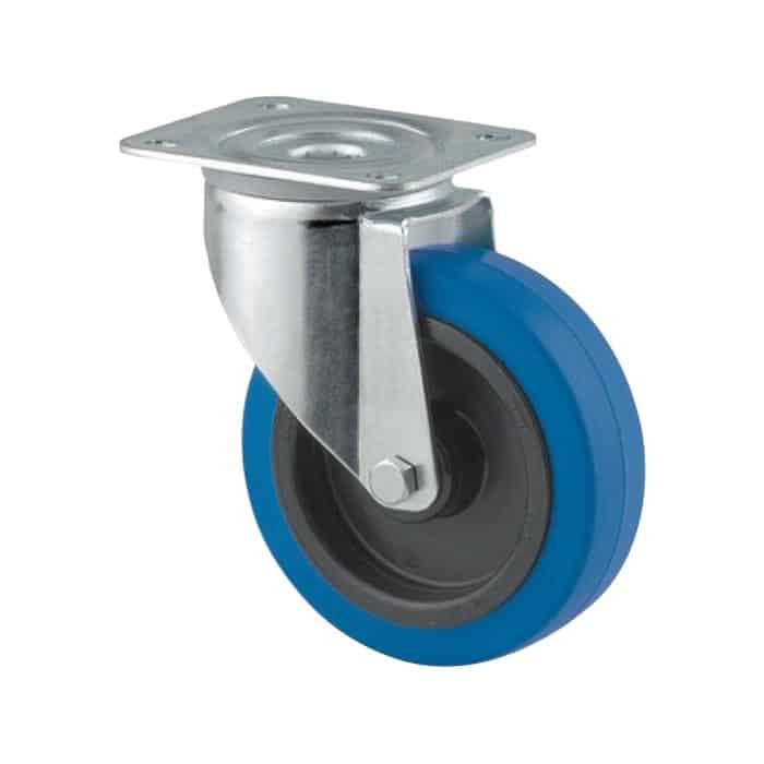 100mm Rubber Zinc Plated Castors from $22 | The Castor Master