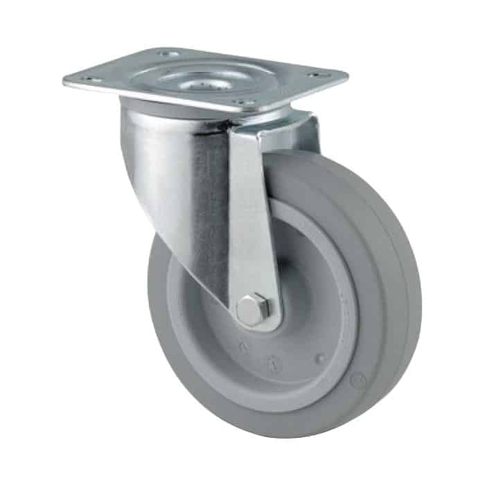 160mm Rubber Zinc Plated Castors from $63 | The Castor Master