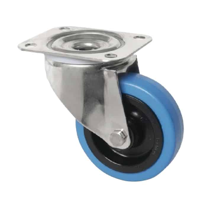 100mm Rubber Stainless Steel Castors from $36 | The Castor Master