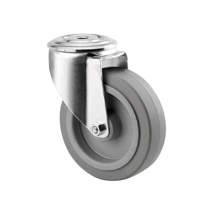 200mm Rubber Zinc Plated Castors from $102 | The Castor Master